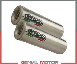 2 Exhaust Mufflers Gpr M3 Titanium Natural Approved Ducati 748 - S/rs 1995 2002