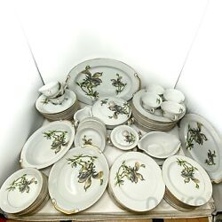 Harmony House Fine China Alyce Japan Dinner And Tea Set And Platter And Bowl 80 Pcs