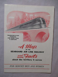 1940and039s Wwii Service Men And Women Brochure Seaboard Air Line Railway 2097