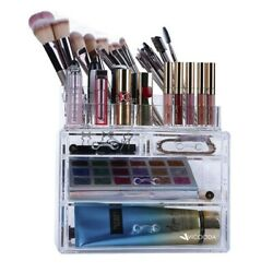 Desktop Storage Box Makeup 4 Drawers Organizer Jewelry Container Case Cosmetic $16.85