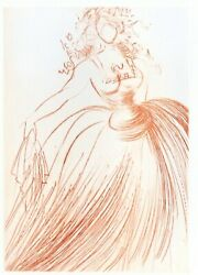 Salvador Dali Original Signed Etching As You Like It Shakespeare 1968 Gown Coa