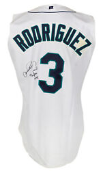Alex Rodriguez Signed Game Used 1998 Seattle Mariners Home Vest Mill Creek Loa