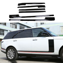 Car Body Door Side Molding Sill Guard Gloss Black For Range Rover L405 2013-2020