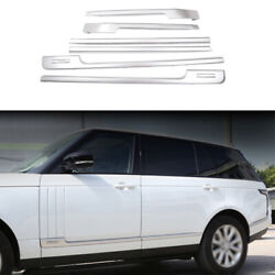 Car Body Door Side Molding Sill Guard Matte Silver For Range Rover L405 2013-20