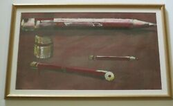 Wayne Thiebaud Style Painting Unsigned Vintage Abstract Expressionism Modernism