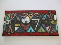 Hopi Native American Indian Painting Sun Moon Cubist Cubism Modernism Tribal