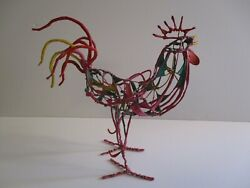 Large Life Size Chicken Sculpture Cock Colorful Abstract Cubist Cubism Modernism