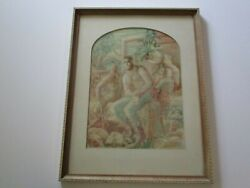 Antique Vintage Wpa Style Painting Industrial Workers Farmers Ashcan Modernism
