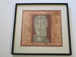 Max Papart Etching Abstract Expressionism French Cubism Face Limited Modernist