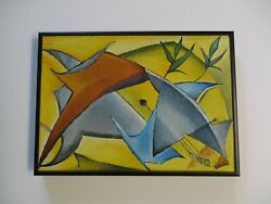 Vintage Cubist Cubism Painting Modernism 1960and039s Expressionism Expressionist Rare