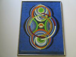 Hans Rink Painting 1970and039s Pop Op Art Modernism Abstract New York Composition
