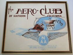Large Painting Trade Sign Vintage Americana National Aeronautical Association