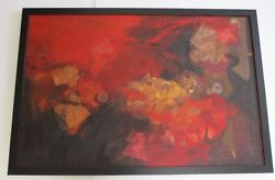 Clare Ferriter Painting Large 1960and039s Exhibited Rare Expressionism Manila Yale