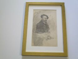 Orlando Rouland Drawing Antique American Portrait Famous Man Men Rare Listed