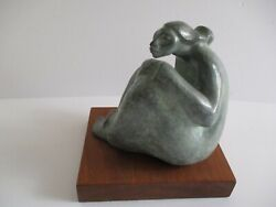Shelly Smith Rare Bronze Metal Sculpture Western Native American Indian Mexican