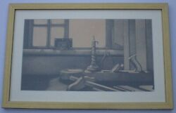 Gerhardt Signed Photo Realism Drawing Old Tools Still Life Modernist Composition