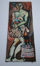 Large Painting Modernism Expressionism Abstract Nude Long Birthday Cake Pop