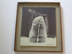 Chung Ji Lee Painting Korean Chinese Modernist Abstract Expressionism Rare 1978