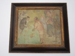 Muriel Hare Painting Antique Wpa Style Pawn Shop Gold Prices Urban British Rare