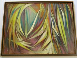 Rare Emil Kosa Jr Painting Mid Century Mod Abstract Surreal Large Expressionist