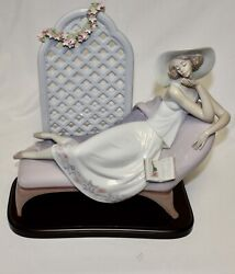 Lladro Double Signed Limited Edition 7634 Garden Of Dreams Puche + Cabo Excel