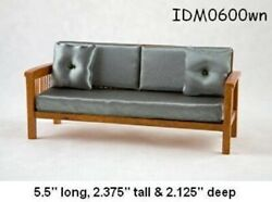 Mission Style Sofa 112 Scale Dollhouse Miniatures Heirloom Collection