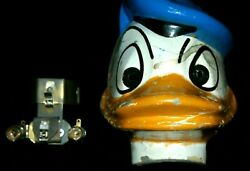 Vintage Shelby Bicycle Donald Duck Head With Lights Nice