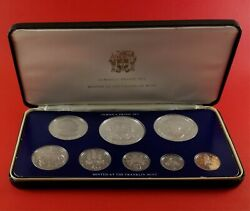 1975 Jamaica 8 Coin Proof Silver Set Sealed In Case