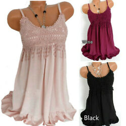 Women Summer Short Sundress Strappy Solid Lace Dress Sleeveless Party Beach $14.18