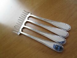 4 Qty Lot Used Kirk Winslow Sterling Silver Oyster Forks 82 Grams