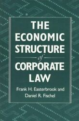 Economic Structure Of Corporate Law Paperback By Easterbrook Frank H. Fisc...
