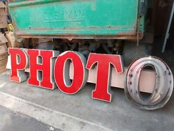 Vintage Back Lit Boxed One Hour Photo Sign