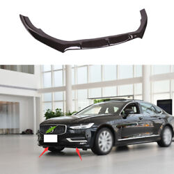 Fit For Volvo S90 2017-2021 Brown Exterior Front Bumper Lip Chin Spoiler Trim 1x