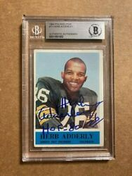 Herb Adderly Signed 1964 Philadelphia Gum Rookie Card Bas Beckett Authenticated