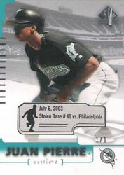 Juan Pierre 2004 Upper Deck Sp Authentic Game Dated Facts 1/1