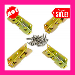 4 Sets Bed Rail Brackets Non-mortise Bed Rail Fittings Bed Frame Brackets For H