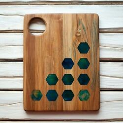 Wooden Serving Board Epoxy Resin Platters Dishes Board Serving Tray Handmade