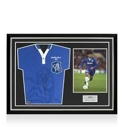 Ruud Gullit Back Signed Retro Chelsea Home Shirt 1997 Fa Cup Final Edition Home