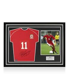 Ryan Giggs Front Signed Retro Wales Home Shirt Home Shirt In Hero Frame Option