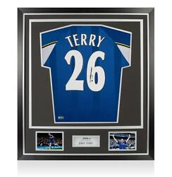 John Terry Back Signed Retro Chelsea Shirt In Classic Frame Cup Winners' Cup Ed