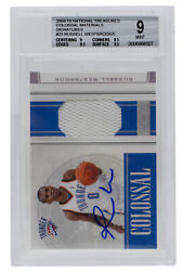 2009 Russell Westbrook Signed National Treasures 9 23 Colossal Card Bgs Auto 10