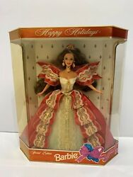 1997 Happy Holiday Barbie Se Super Rare Double Error Ribbon Is Pink And Blue Andeyes