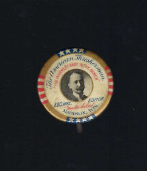 Early The American Thresherman - Madison, Wi Advertising Picture Button