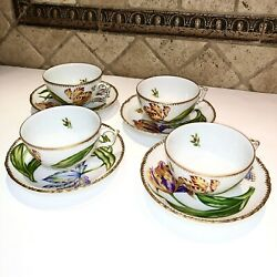 Anna Weatherley Old Master Tulips Cup And Saucer Handpainted Set Butterfly China