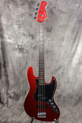 New Fender Made In Japan Aerodyne Jazz Bass Ii Candy Apple Red Electric Guitar