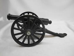 Old Vtg Cast Iron Cannon Weapon 5 1/4 Long Barrel Military Pretend Play Toy