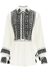 New Dries Van Noten Castaly Embroidered Shirt Castaly Emb 2293 White Authentic N