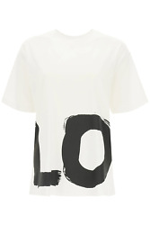New Carrick Oversized T-shirt With Love Print 8037303 White Authentic N