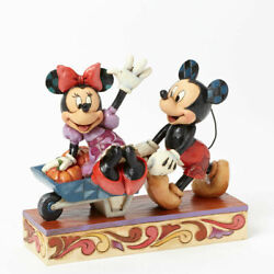 Disney Jim Shore Mickey And Minnie Mouse Picking Pumpkins Statue Rare New 4039067