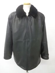 Brand New Black Sheared Mink Fur And Leather Reversible Jacket Men Man Size 46-48